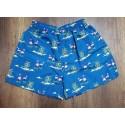 Pantaloneta azul petroleo - short con flamingos