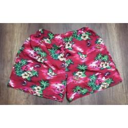 Pantaloneta hawaiana roja