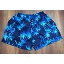 Pantaloneta hawaiana azul oscura con palmeras