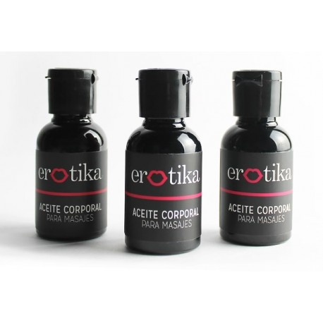 Aceite corporal para masajes sabor a crema de wisky