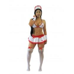 Disfraz de enfermera con falda