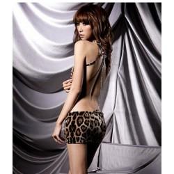 Sexy vestido de leopardo