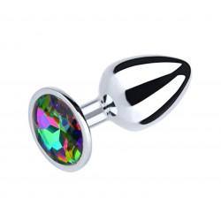 Plug anal metálico con joya arcoiris