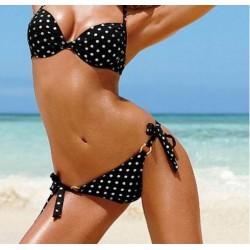 Bikini Negro con puntos blancos