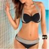 Bikini negro con gris